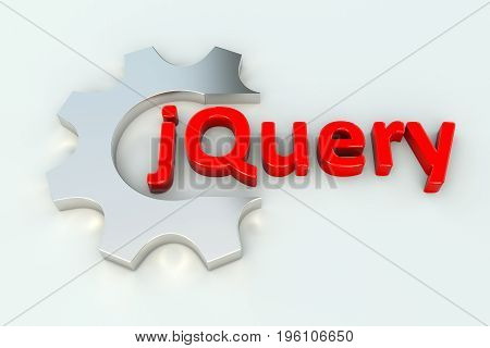 jQuery wheel gear white background 3d illustration