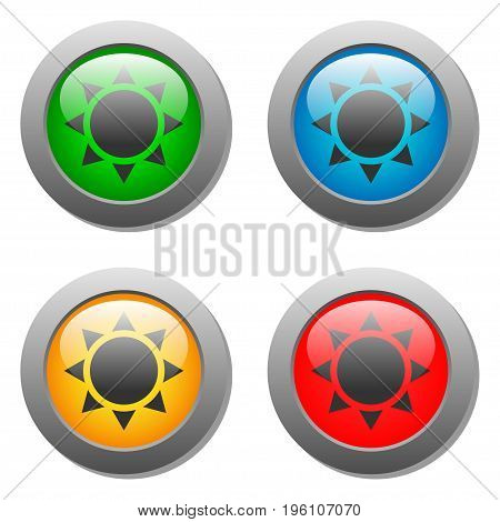 Goblets icon glass button set in vector