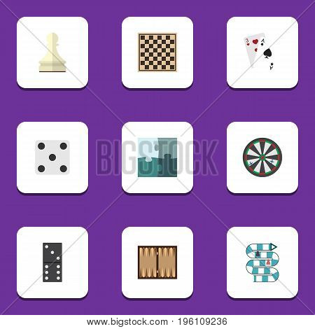 Flat Icon Games Set Of Arrow, Chess Table, Pawn And Other Vector Objects