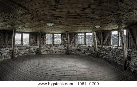 Inside of tower in Lubovna castle SLovakia