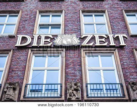 Die Zeit Headquarters In Hamburg Hdr