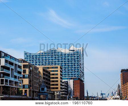 Elbphilharmonie Concert Hall In Hamburg Hdr