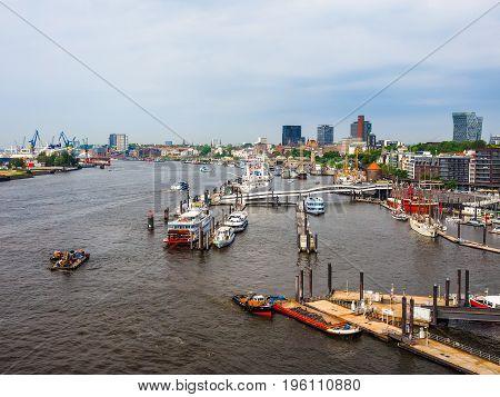 Hamburg Skyline View Hdr