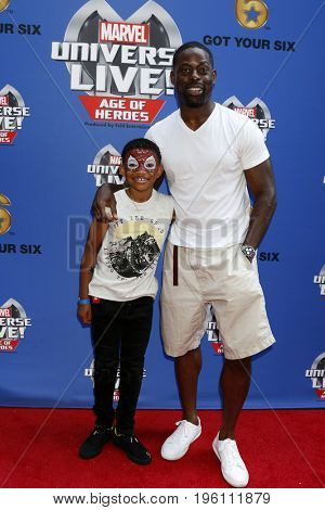 LOS ANGELES - JUL 8:  Lonnie Chavis, Sterling K Brown at the Marvel Universe Live Red Carpet at the Staples Center on July 8, 2017 in Los Angeles, CA