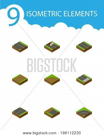 Isometric Way Set Of Repairs, Downward, Upwards And Other Vector Objects