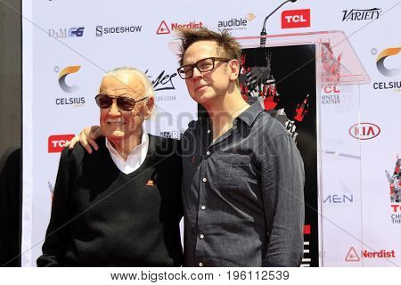 LOS ANGELES - July 18:  Stan Lee, James Gunn at the Stan Lee Hand and Footprint Ceremony at the TCL Chinese Theater IMAX on July 18, 2017 in Los Angeles, CA