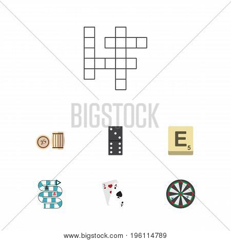 Flat Icon Play Set Of Ace, Guess, Multiplayer And Other Vector Objects