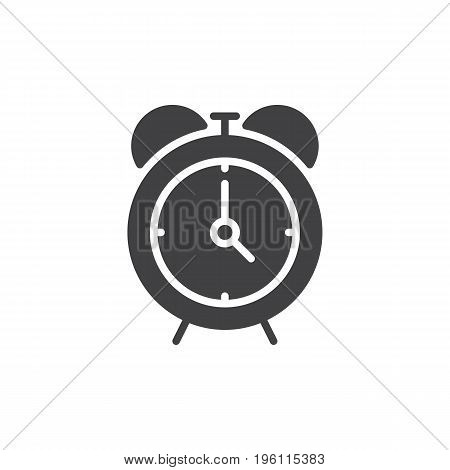 Alarm clock icon vector, filled flat sign, solid pictogram isolated on white. Reminder symbol, logo illustration. Pixel perfect graphics