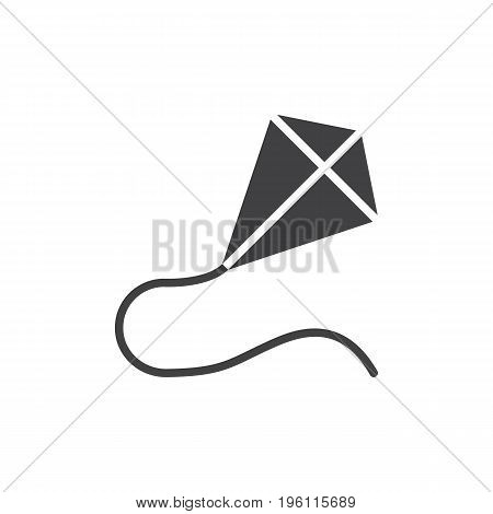 Kite icon vector, filled flat sign, solid pictogram isolated on white. Symbol, logo illustration. Pixel perfect graphics