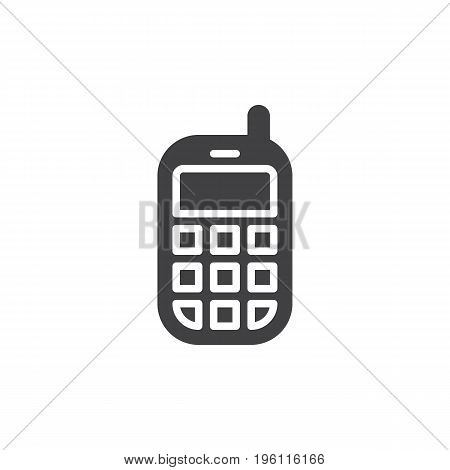 Mobile phone icon vector, filled flat sign, solid pictogram isolated on white. Symbol, logo illustration. Pixel perfect graphics