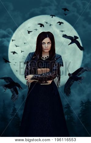 Witch In Full Moon