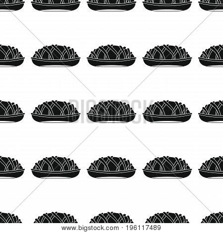 Pie bakery product black simple silhouette vector seamless pattern, silhouette stylish texture. Repeating Pie seamless pattern background for bakery design and web