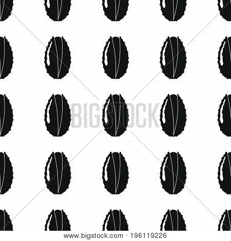Lichee black simple silhouette vector seamless pattern. Black fruit stylish texture. Repeating Lichee fruit seamless pattern background for web