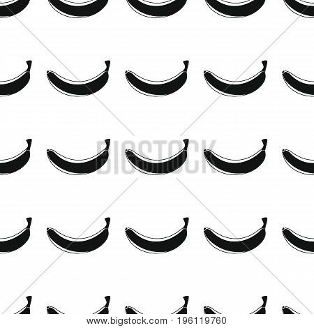 Banana black simple silhouette vector seamless pattern. Black fruit stylish texture. Repeating Banana fruit seamless pattern background for web