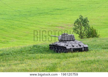 Russian Tank T-34 From World War Ii, Slovakia