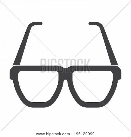 Opticianry concept with glasses, vector silhouette on white background