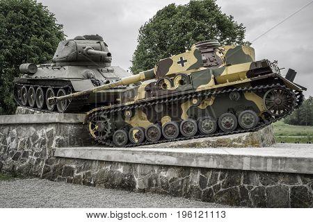 World War Ii Tank Monument In Svidnik, Slovakia