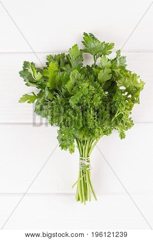 mixed bunch of fresh parsley and dill