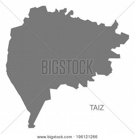 Taiz Yemen Governorate Map Grey Illustration Silhouette Shape