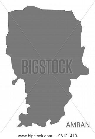 Amran Yemen Governorate Map Grey Illustration Silhouette Shape