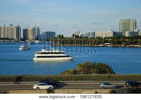 Views of Miami Beyond the Macarthur Causeway