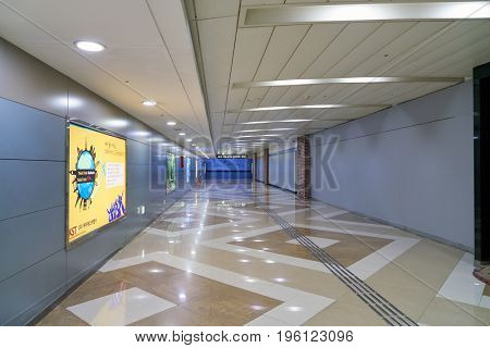 SEOUL, SOUTH KOREA - CIRCA MAY, 2017: inside Gimpo Airport. Gimpo International Airport is located in the far western end of Seoul.