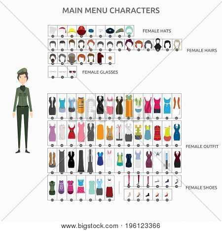 Character Creation Soldier   set of vector character illustration use for human, profession, business, marketing and much more.The set can be used for several purposes like: websites, print templates, presentation templates, and promotional materials.