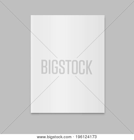 blank closed magazine newspaper vector mockup  magazine template vector