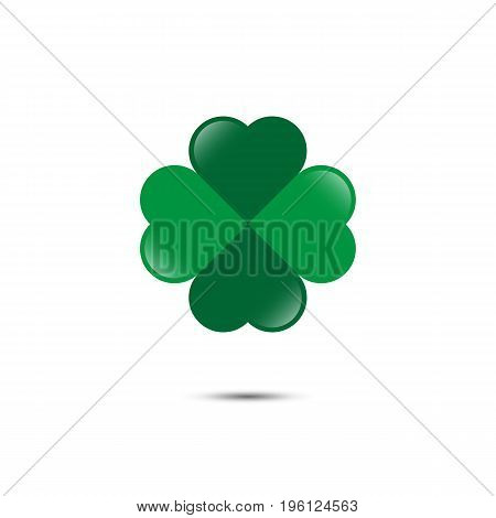Clover leaf icon. Four leafs. Vector illustration.