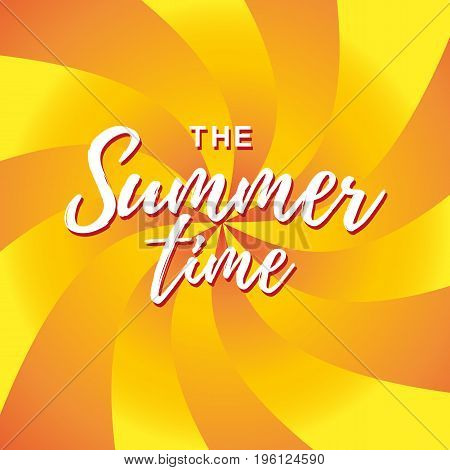 Summer time vector banner design. Vector illustration.