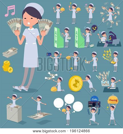 Flat Type Nurse Wear Woman_money
