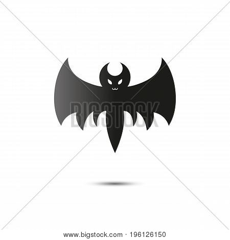 Halloween flying bat isolated on white background. Vector.