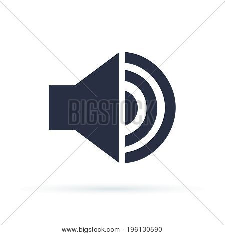 Volume Vector icon. Music Sound Megaphone Icon Flat Vector Illustration. EPS 10 format