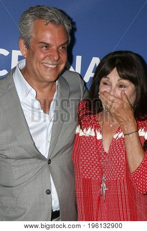 LOS ANGELES - July 17:  Danny Huston, Anjelica Huston at the Rock Under The Stars With Don Henley And Friends at a Private Residence on July 17, 2017 in Los Angeles, CA