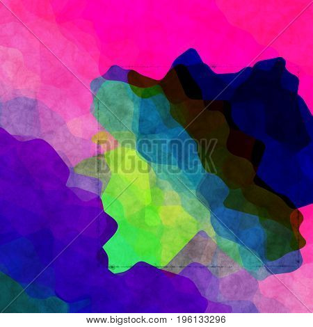 Interesting Uneven Colorful Background Texture With Blue Pink Green Colors Blend