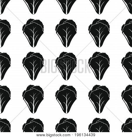 Salad black simple silhouette vector seamless pattern. Black vegetable stylish texture. Repeating salad vegetables seamless pattern background for vegetable design and web