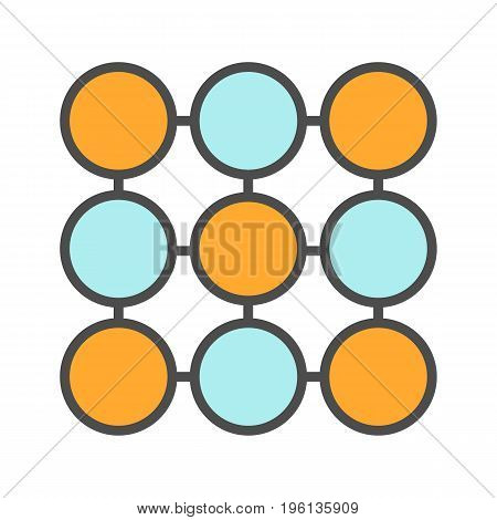 Structure symbol color icon. Composition abstract metaphor. Isolated vector illustration