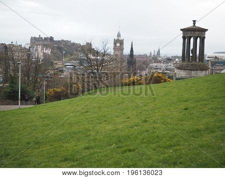 Views of a hill of Edinburgh in Scotland