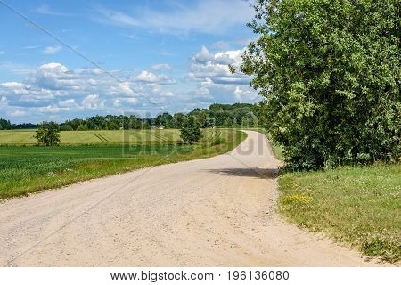 Empty Road In The Countryside