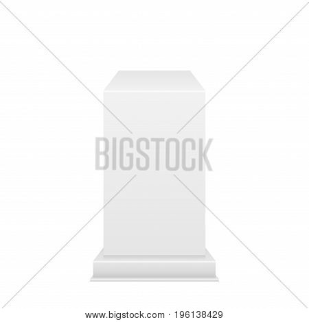 Pedestal with light source isolated on white background, vector illustration.
