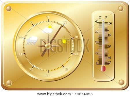 Barometer for determination of weather.