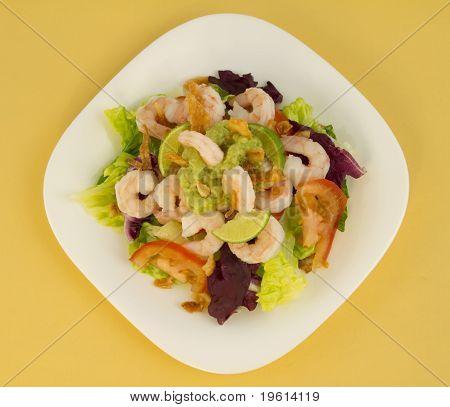 Shrimp Salad Top View