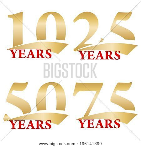 Anniversaries an icon of anniversaries birthdays. Flat design vector illustration vector.