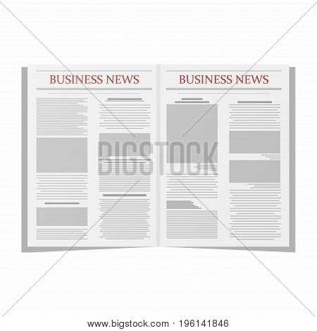 Business newspaper. Newspaper template isolated on white background. Vector