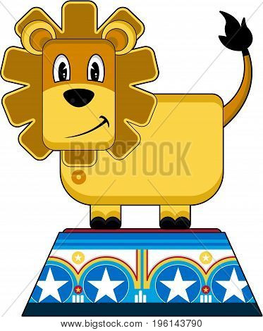 Cute Lion On A Podium.eps