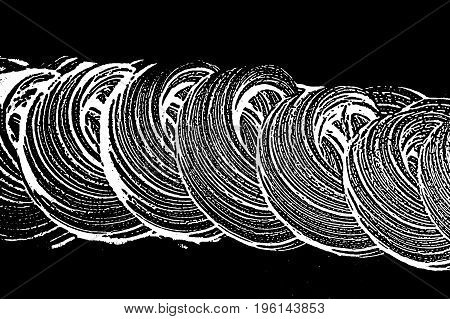 Grunge Soap Texture. Distress Black And White Rough Foam Trace Good-looking Background. Noise Dirty