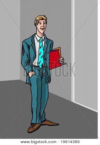 Office worker behind work.