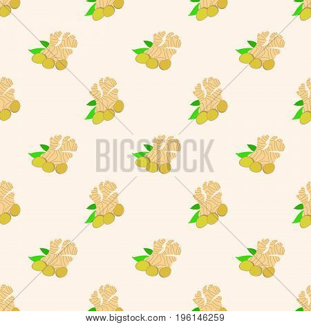 Seamless Background Image Colorful Vegetable Food Ingredient Ginger