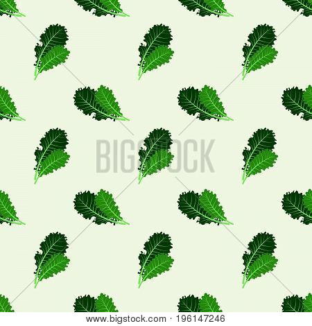 Seamless Background Image Colorful Vegetable Food Ingredient Kale