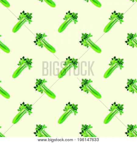 Seamless Background Image Colorful Vegetable Food Ingredient Celery